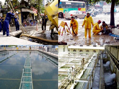 Hà Nội chủ động cung cấp nước sạch và chống úng ngập khu vực nội đô