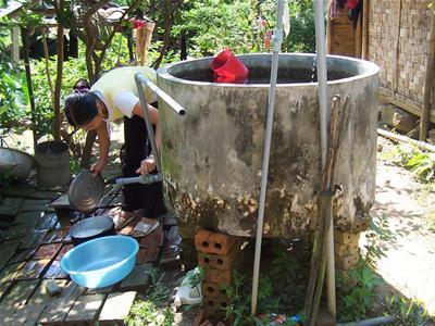 Nước ngầm nhiễm thạch tín ở Hà Nam, may loc nuoc nano
